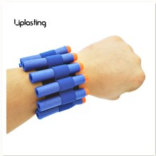 2017 New Brand and  HOT Selling Blue soft bullet Safety Elastic wrist band storage soft bullets Children toy Gun For Nerf