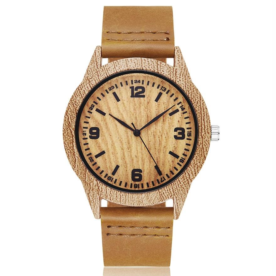 Animal Imitate Deer Wood Watch Men Women Couple Wristwatch Imitation Wooden Watches Acrylic Case Lover Brown Wrist Clock Reloj