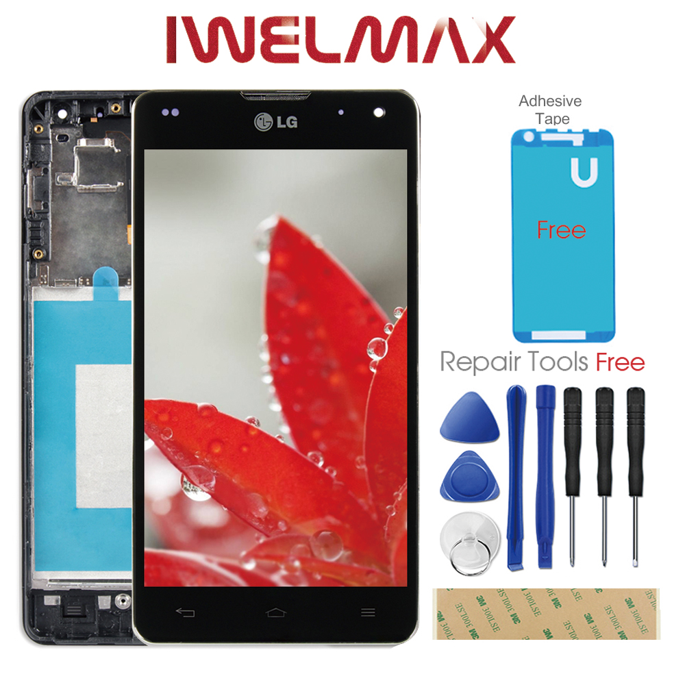Warranty Display For LG E975 Display Touch Screen with Frame Digitizer LG Optimus G E975 LCD LS970 F180 E971 E973 Tested