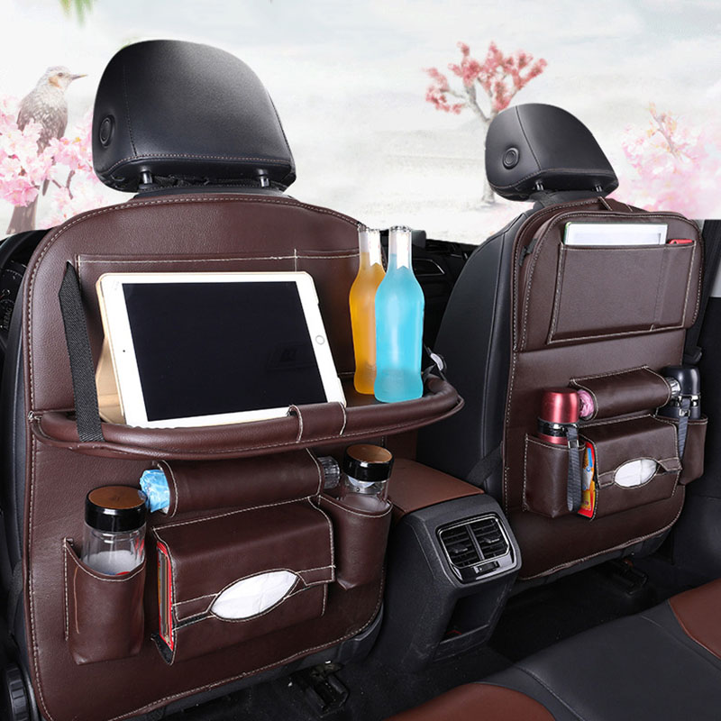 Image 4 - Car Back Seat Organiser Folding Table Tablet Drinks Laptop Holder Storage Gifts-in Stowing Tidying from Automobiles & Motorcycles