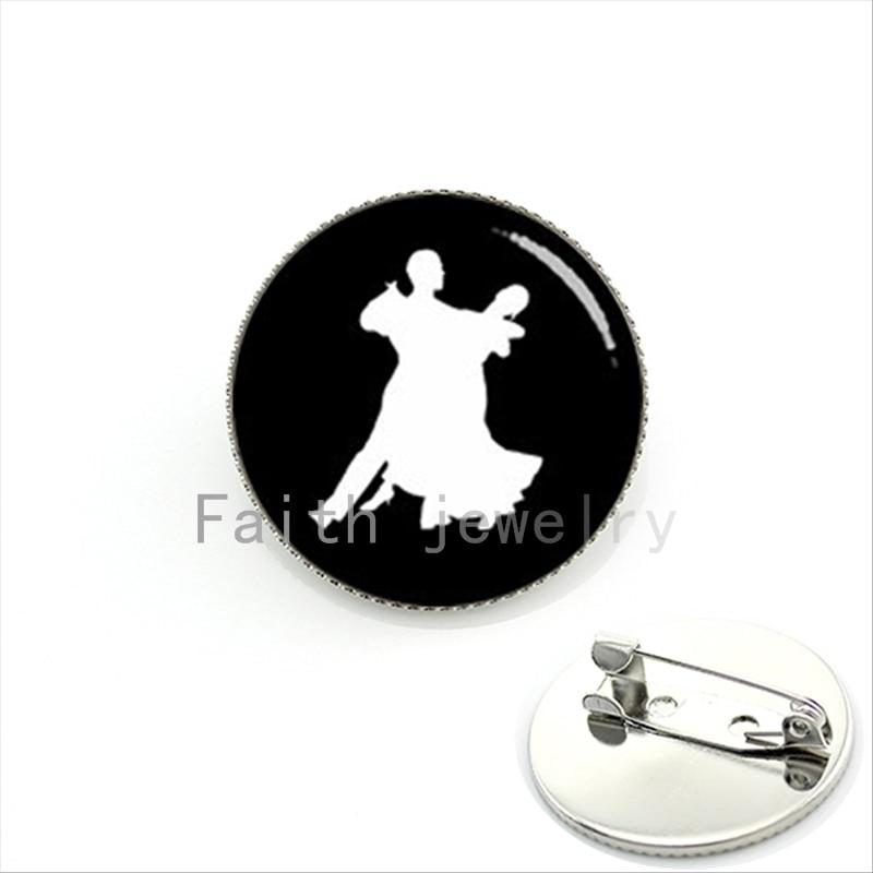 Dazzling souvenir brooch pins jewelry dancing waltz profile salsa,tango,Latin,Samba dance pins for boyfriend,girlfriend KC586