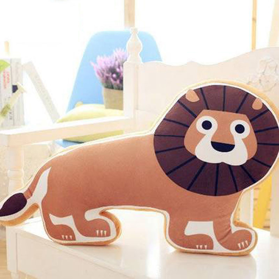 Horse shaped pillows for children - Cartoon Cute Lion Plush Stuffed Animals Toy Pillow Poodle Horse Doll Oyuncak Bebek Soft Toys Almofadas Toys For Children 50g0479