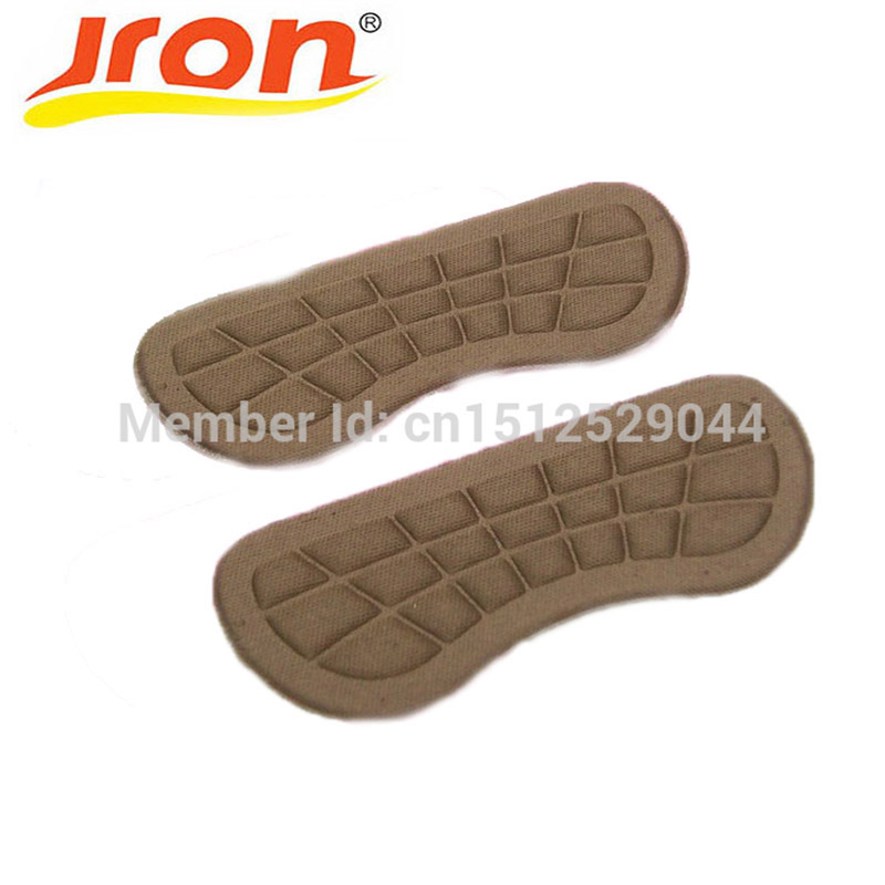 10 Pairs Fabric Faced Foot Care Feet Insoles Invisible Cushion Silicone Gel Anti-Slip Heel Liner Shoe Pads Wholesale jup 1 pair genuine leather gel silicone shoe pad insoles women s high heel cushion protect comfy feet palm care pads foot wear