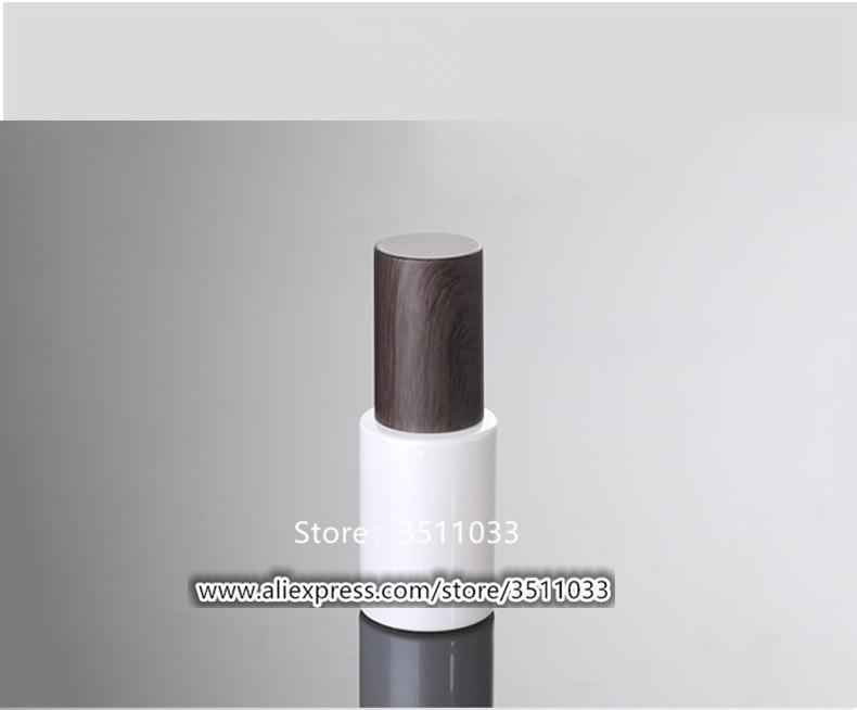 12 PCS 30 ml Pearl สีขาวโลชั่นปั๊มขวดแก้วเครื่องสำอางค์คอนเทนเนอร์ Dark Wood Grained ออกแบบพลาสติกฝาปิด-ใน ขวดรีฟิล จาก ความงามและสุขภาพ บน   3