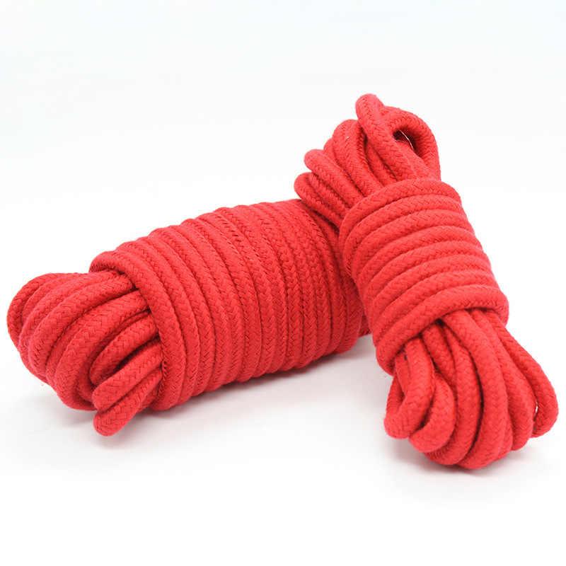 섹시 란제리 코스프레 bdsm 5 m 소프트 구속 밧줄 게임 제품 성인을위한 장난감 에로 속옷 란제리 lenceria 섹시한 의상