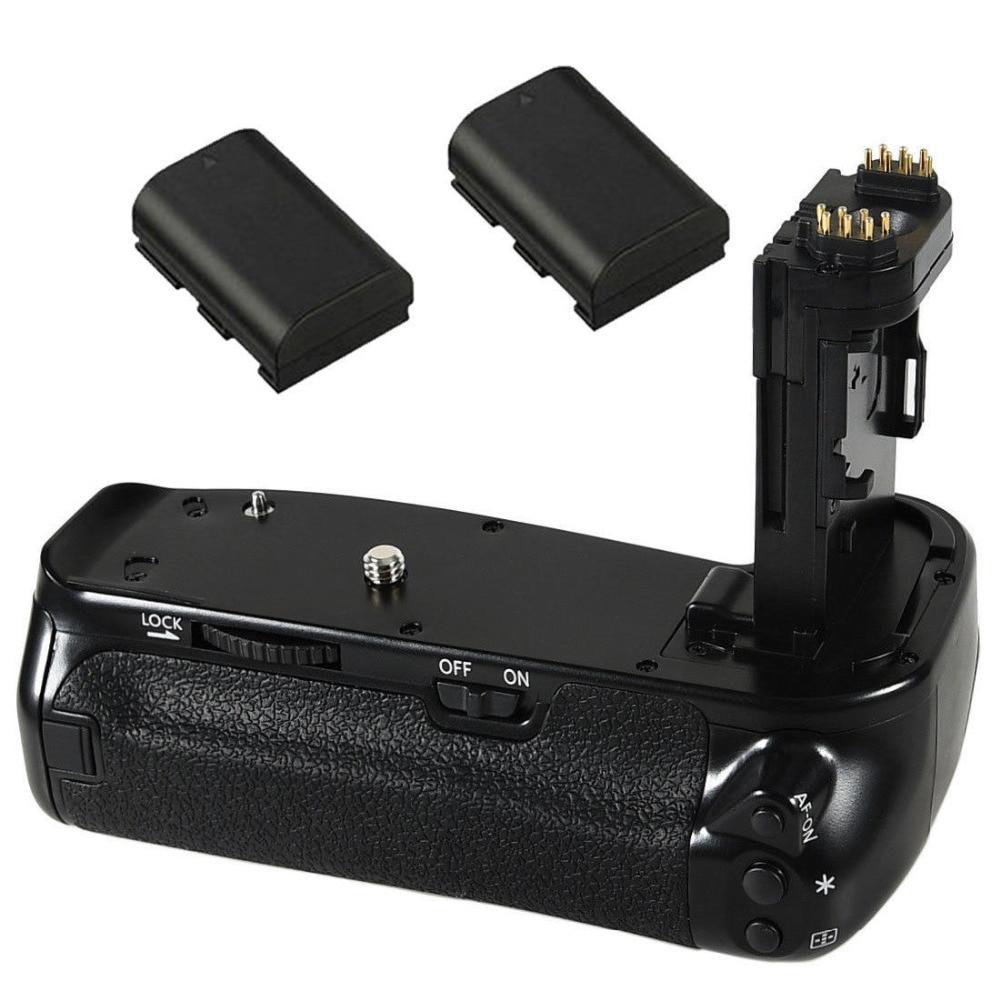 JINTU Pro Vertical Shutter Battery Grip Holder +2pcs LP-E6 Battery Kit For Canon EOS 6DII 6D Mark II DSLR Camera As BG-E21