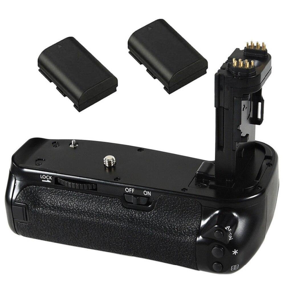 JINTU Pro obturateur Vertical batterie support de prise en main + 2 pièces LP-E6 Kit de batterie pour Canon EOS 6DII 6D Mark II DSLR appareil photo comme BG-E21
