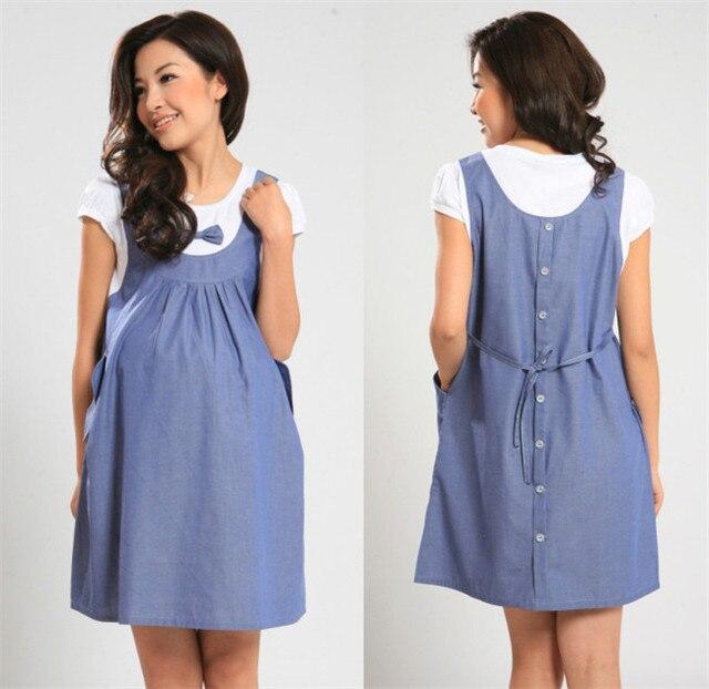 ccf75a513 Venta al por menor Unid 1 Pza ropa de maternidad vestido de verano para  mujeres embarazadas