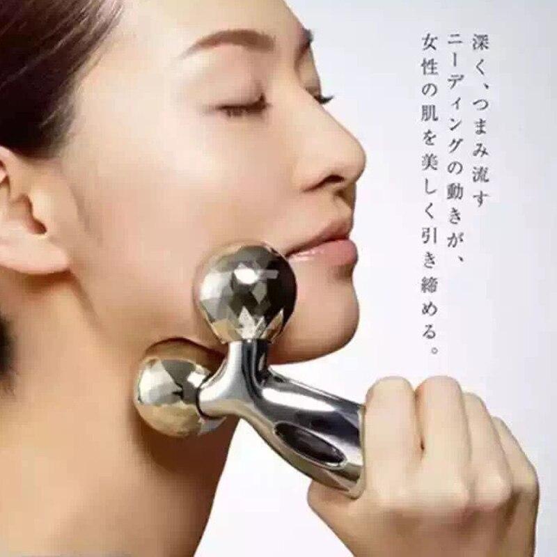 Cara delgada artefacto cara delgada de rodillo máquina V cara masajeador cara delgada instrumento papada muscular 3 D Bola de masaje