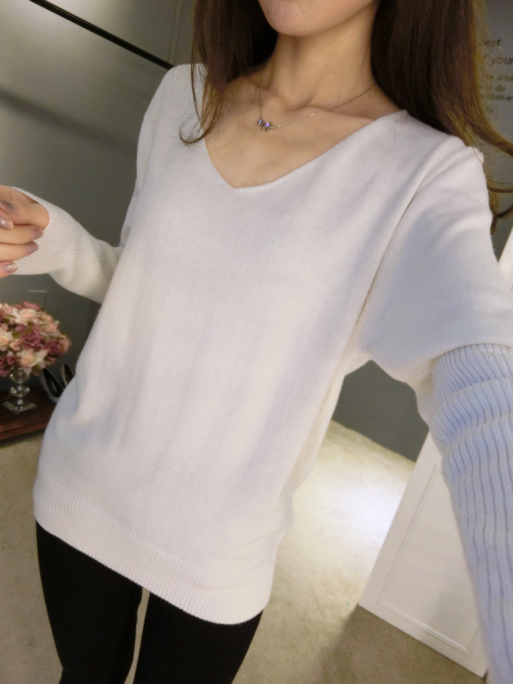 LOWEST-PRICE-Fashion-Women-s-Pullover-Sweater-Lady-V-neck-Batwing-Sleeve-Cashmere-Wool-Knitted-Solid (8)