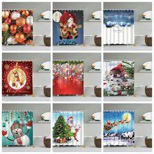 Рождественская занавеска для душа с крючками, занавески для ванной, 3d занавеска для душа, s, для ванны, цветок, снежинка, водонепроницаемая занавеска для душа или коврик