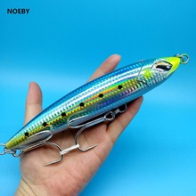 NOEBY NEW BAIT 1PCS Top-water pencil fishing lure  86g/190mm 7colors 3D EYES big Marlin Tuna Trolling Fishing Lures