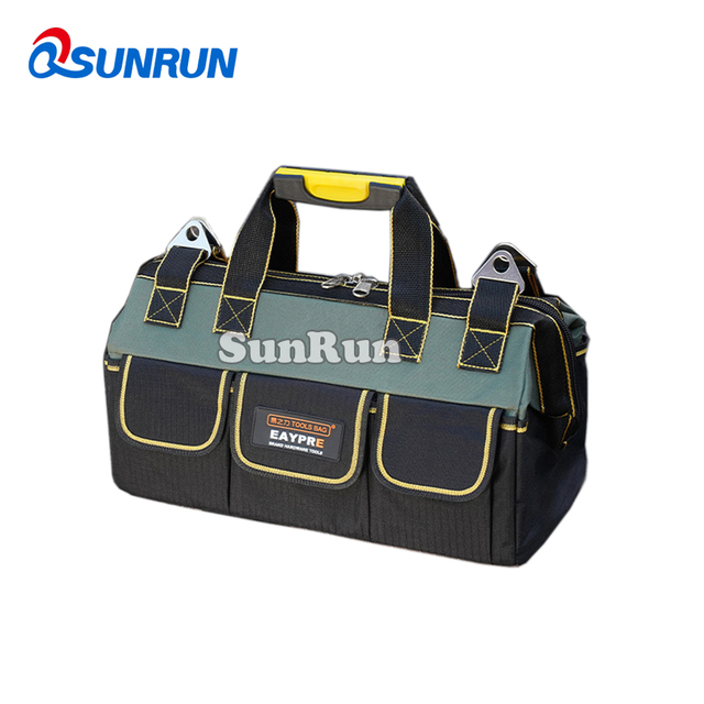 Multi-Layers fabric Oxford toolbag single shoulder portable kit satchel 4 sizes waterproof electrician tool kit