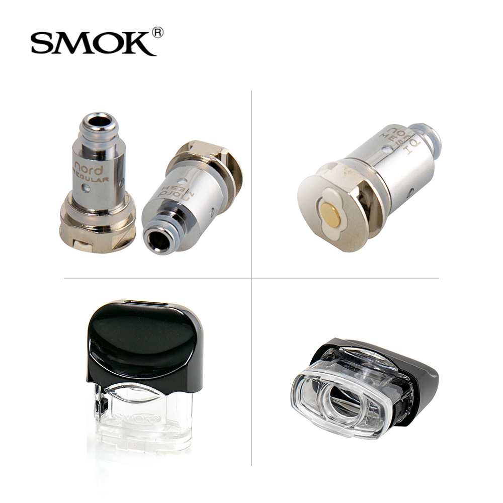 Original SMOK Nord Replacement Pod Cartridge 3ml Nord Mesh /Mesh-MTL  /Regular/Ceramic Coils for NORD Pod vape Kit e- cigarette
