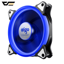 Aigo Halo Ring RGB Case Fan 140mm 3pin+4pin LED Case Fan for PC Case CPU Cooler Radiator Silent Desktop Computer Cooling Fans цена
