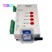 LED T1000S DreamController 128 SD Card Pixels RGB Controller DC5 24V For WS2801 WS2811 WS2812B LPD6803