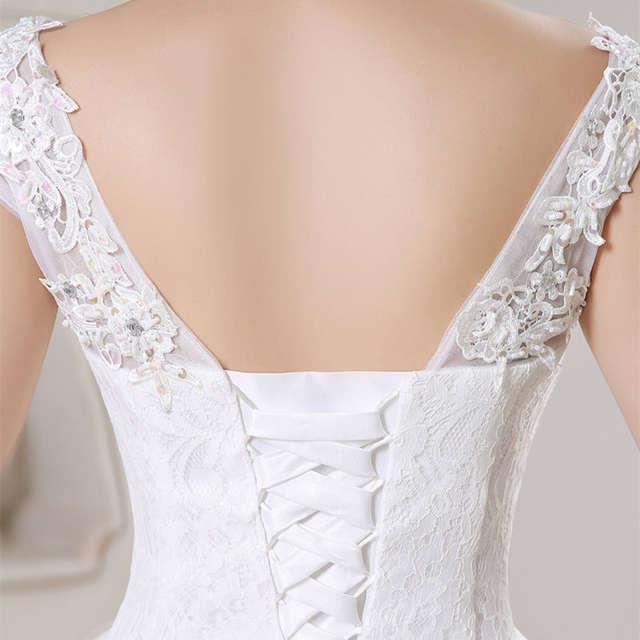 0d0d109fb44 It s Yiiya White Cheap Sleeveless Floor Length Wedding Dresses Lace Boat  Neck A-line Simple