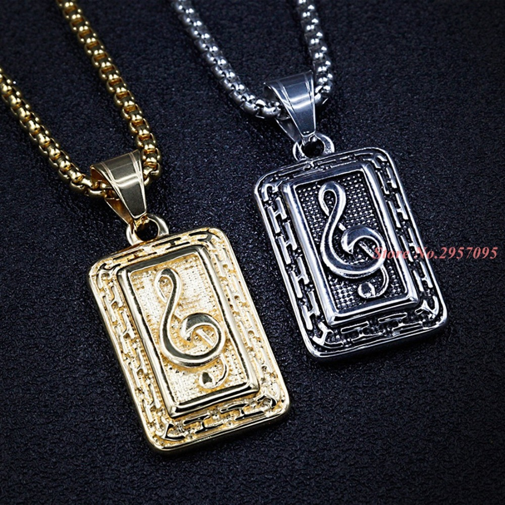 Cute music box pendant necklaces silvergold color stainless steel cute music box pendant necklaces silvergold color stainless steel collar for women jewelry with 60cm chain in pendants from jewelry accessories on aloadofball Images
