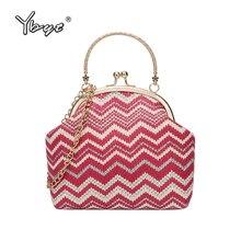 new fashion Striped straw bags for women summer style small satchel hotsale chain ladies shoulder crossbody handbags