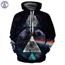 Mr.1991inc espacio galaxy sudaderas hombres y mujeres unisex con capucha sudaderas refracción de la luz del arco iris de la moda de impresión 3d con capucha streetwear