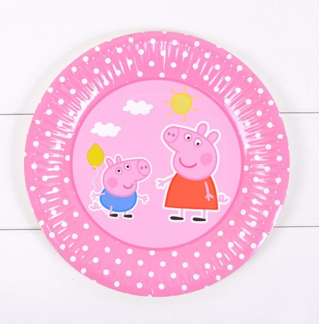 Ynaayu 6pcs/set Lovely Pig Party Paper Plate Kids Birthday 7inch Round Pink/Blue  sc 1 st  AliExpress.com : paper plate pig - pezcame.com