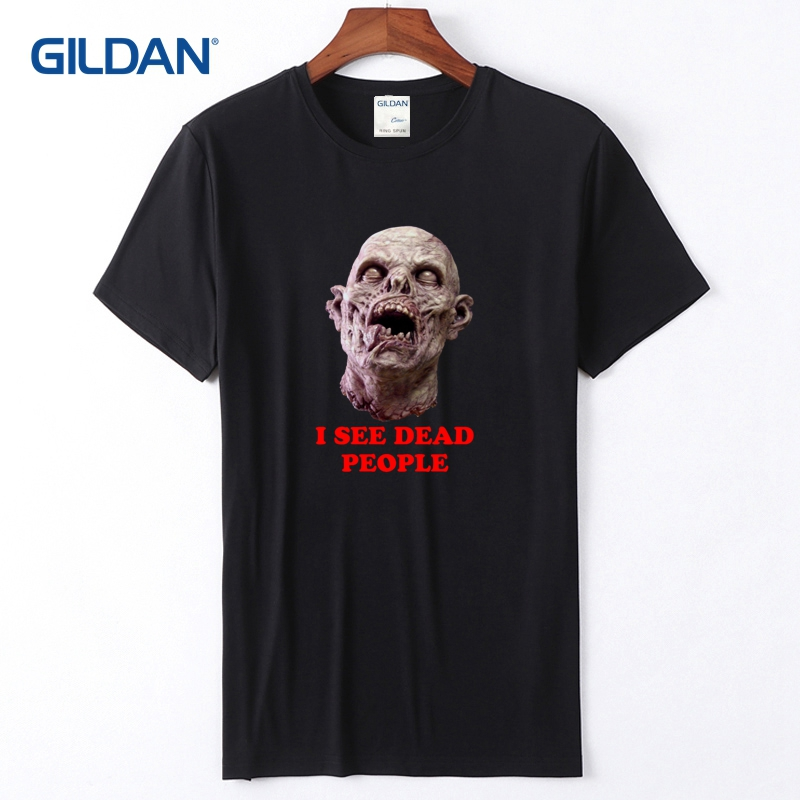 a6e675f8 Blue Mens Shirts 2018 I See Dead People Tees With Sayings Cotton Custom T- Shirt