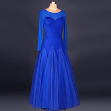 High quality modern dance one-piece dress expansion skirt dance skirt skirts Long women ballroom dress tango waltz dance dress