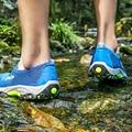 Пляжные Сандалии Мужские 2017 Лето Вьетнамки Обувь Открытым Носком Водонепроницаемые Нескользящей Мужские Сандалии