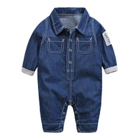 Spring 2017 Baby Denim Jumpsuit Europe Style Denim Jacket For Baby Boys Clothes 0 18M One