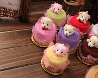 20pcs Mixed color Cute Bear Style Towel Fibre Creative Towels For Wedding Party Birthday Favor Gift Souvenirs Souvenir
