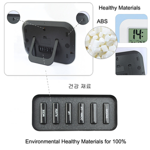 Image 4 - Big Number LCD Digital Wall Clock Table Desktop Alarm Clock with Temperature Thermometer Humidity Hygrometer Snooze Calendar
