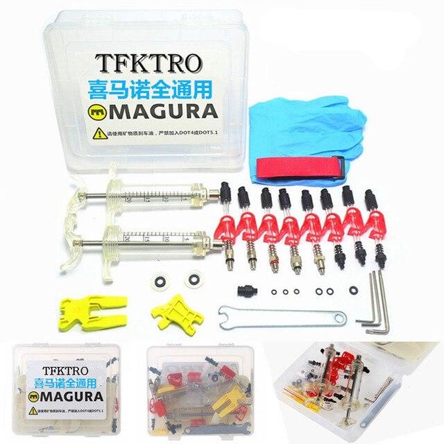 Kit de purge de frein à disque hydraulique pour vélo seringue ordinaire pour série Shimano/Magura/Tektro/ZOOM/CSC/ECHO