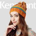 Kenmont Autumn Winter Women Lady Girl Warm Acrylic  Hand Knit Jacquard Beanie Hat Outdoor Cap1641