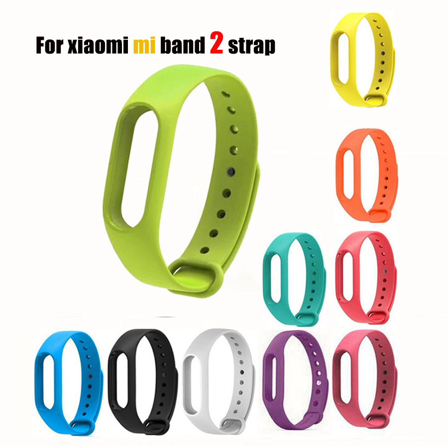 5 pcs Colorful Silicone Wrist Strap Bracelet Replacement watchband for Miband 2 Xiaomi Mi band 2 Wristbands
