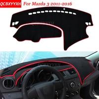 Car Styling Dashboard Avoid Light Pad Polyester For Mazda 3 2011 2016 Instrument Platform Desk Cover