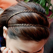 Hot 4 Colors Braided Stretch Elastic Hair Band Headband Barrette Hair Sticker Hair Accessories 5BPU 7ECB