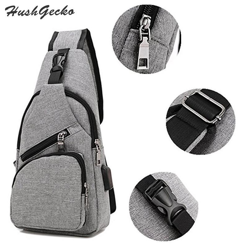 744e8dcf96 Sling Bag Shoulder USB Charging Crossbody Men Chest Bags Lightweight Outdoor  Sport Travel Daypack