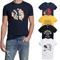 21 Colores de Calidad SUPERIOR AFS Verano Hombres Camiseta 100% Algodón Manga Corta T Camisa de Los Hombres Hollistic Ropa S-3XL Camiseta Homme