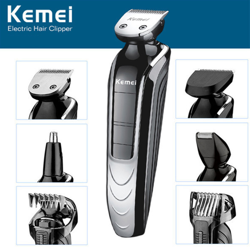Waterproof 5 in 1 hair cutting maquina de cortar o cabelo hair clipper electric shaver beard trimmer men styling tools shaving