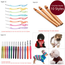 Looen Crochet Hook Set 0.5-25mm Knitting Needles Weave Clothes DIY Needle Arts Craft For Sewing Tools