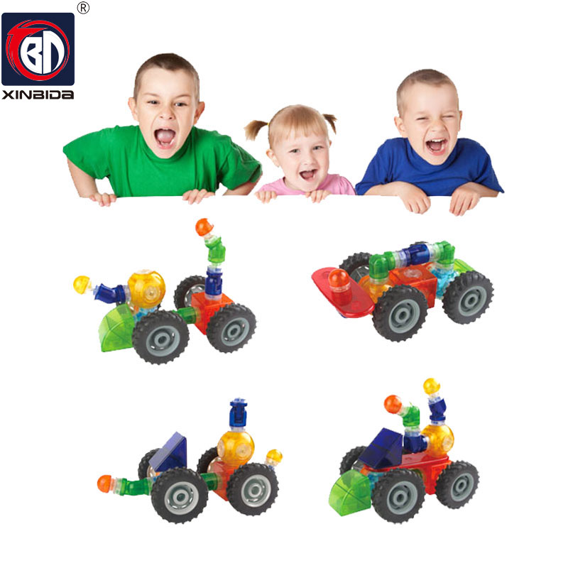69PCS Building Blocks Magnetic construction magnetic Designer Toys For Kids model build kits Magnetic Building Blocks18 small car shape magnetic designer building blocks model