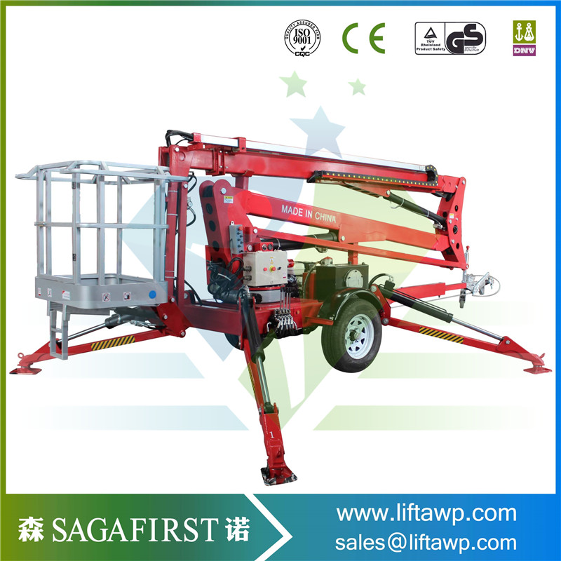 SINOFIRST Good Quality Towable Trailed Hydraulic Boom Lift for Hot Sales