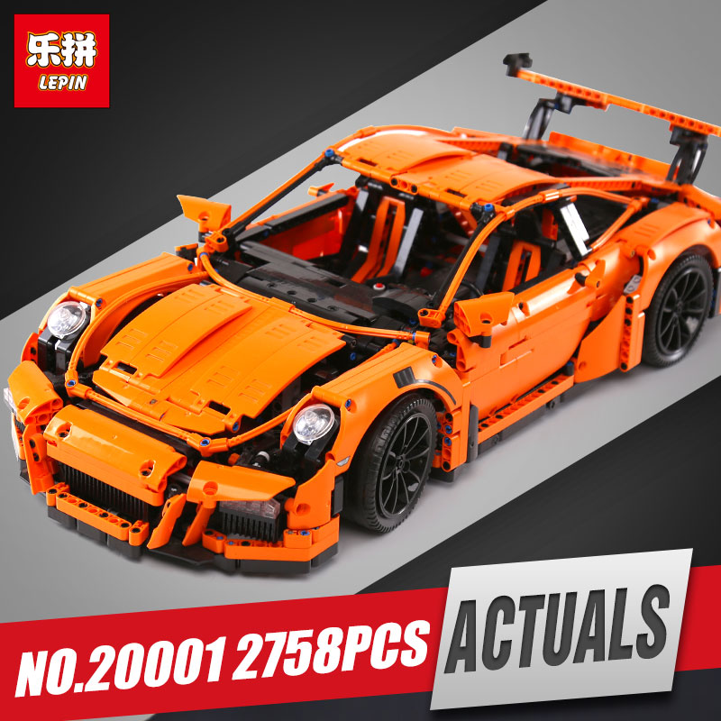 LEPIN 20001 20001B New technic series Race Car Model Building Kits Blocks Bricks Compatible 42056 For children birthday Gift lepin technic city series 24 hours race car building blocks bricks model kids toys marvel compatible legoe