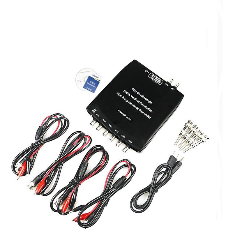 1008B 8 Channel PC USB Auto Scope/DAQ/8CH Generator 8 Channels Automotive Diagnostic Oscilloscope Free shipping