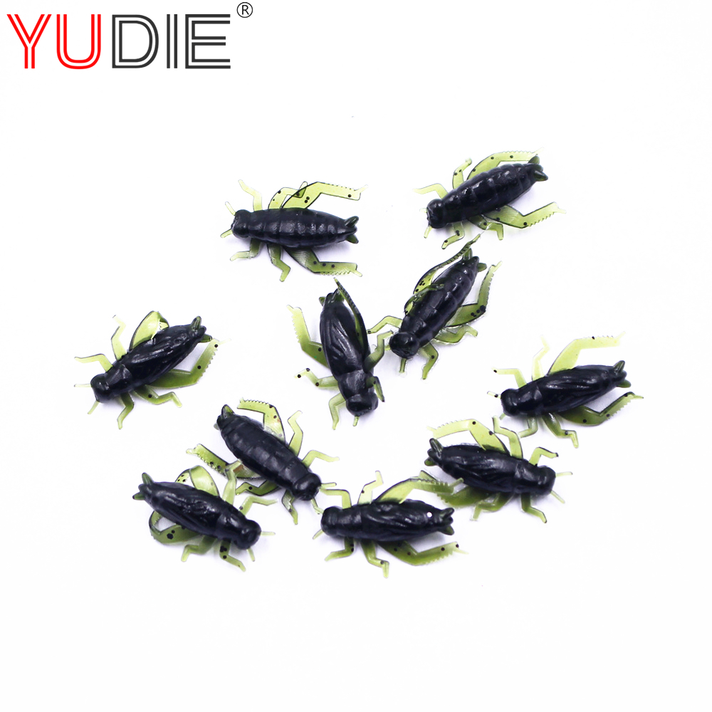 10Pcs Green Cricket Soft Bait High Quality 2.5 cm Artificial Lures For Glass Carp Hooks Insect Bait Soft Real Wobblers Spinner нож складной cricket