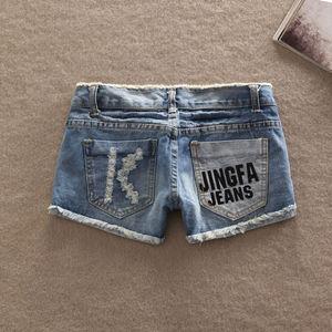 Image 3 - Лидер продаж 2019, высококачественные новые женские модные пикантные джинсовые повседневные джинсы с карманами, женские короткие брюки с заниженной талией, шорты для девочек