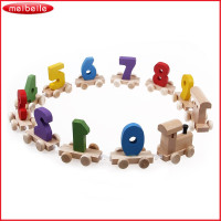 0 9 Number Brand New Educational Toy Baby Toddlers Children Wooden Digital Small Train Juguetes Free