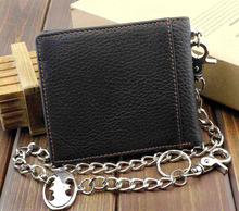 Batman Wallet with Silver Link Chain