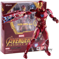 SHF SHFiguarts Marvel Avengers Infinity War Action Figure Iron Man MK 50 Mark XLX PVC Collectible Model Toy