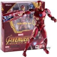 SHF SHFiguarts Marvel Avengers Infinity War Action Figure Iron Man MK 50 Mark XLX PVC Collectible Model Toy